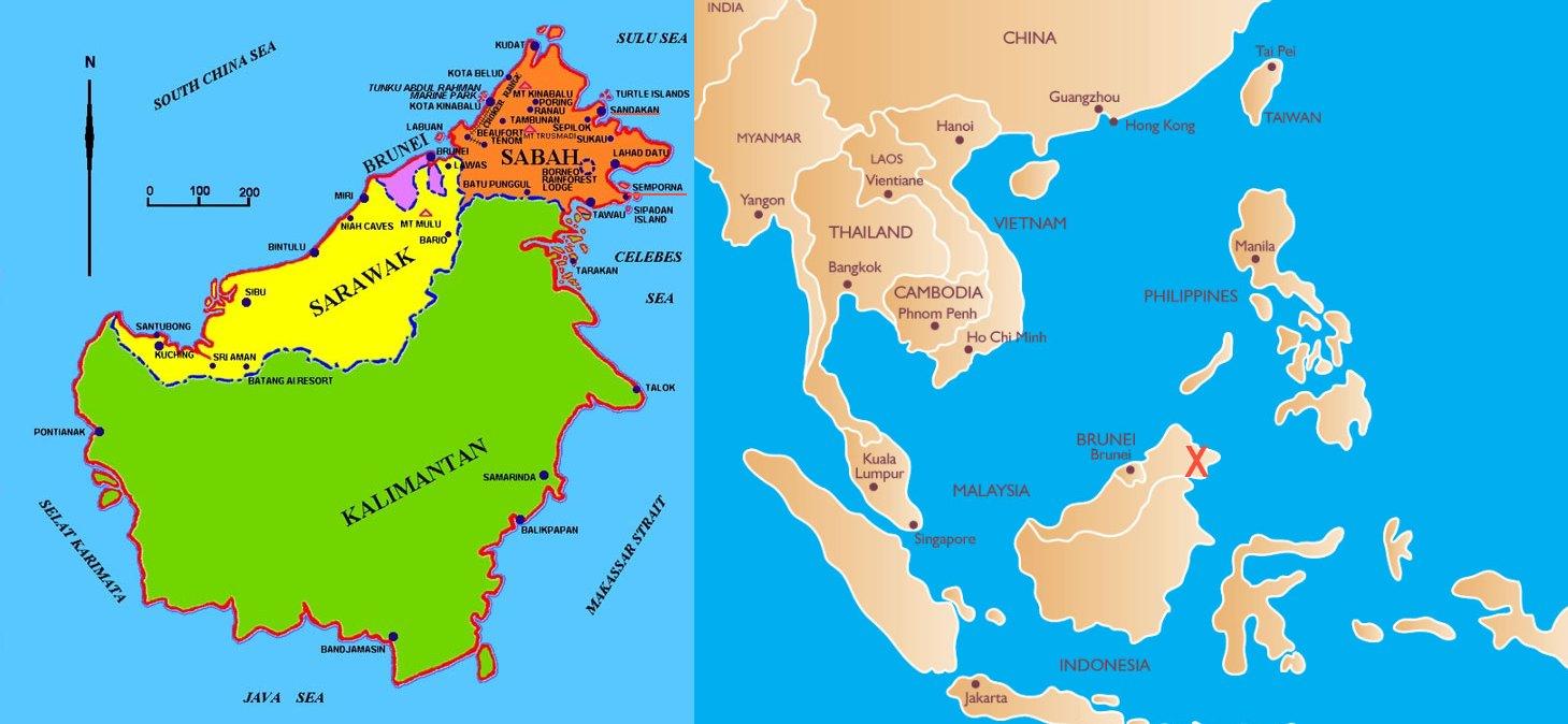 Brunei map borneo borneo gumiabroncs Image collections